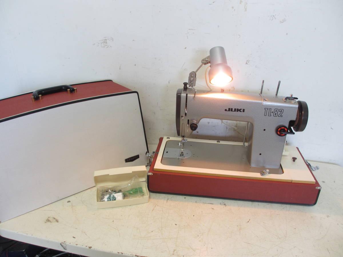 ※65 JUKI ジューキ 職業用 ミシン /アンティークミシン TL-82 直線縫い レザークラフト厚手デニム 現状品_画像1