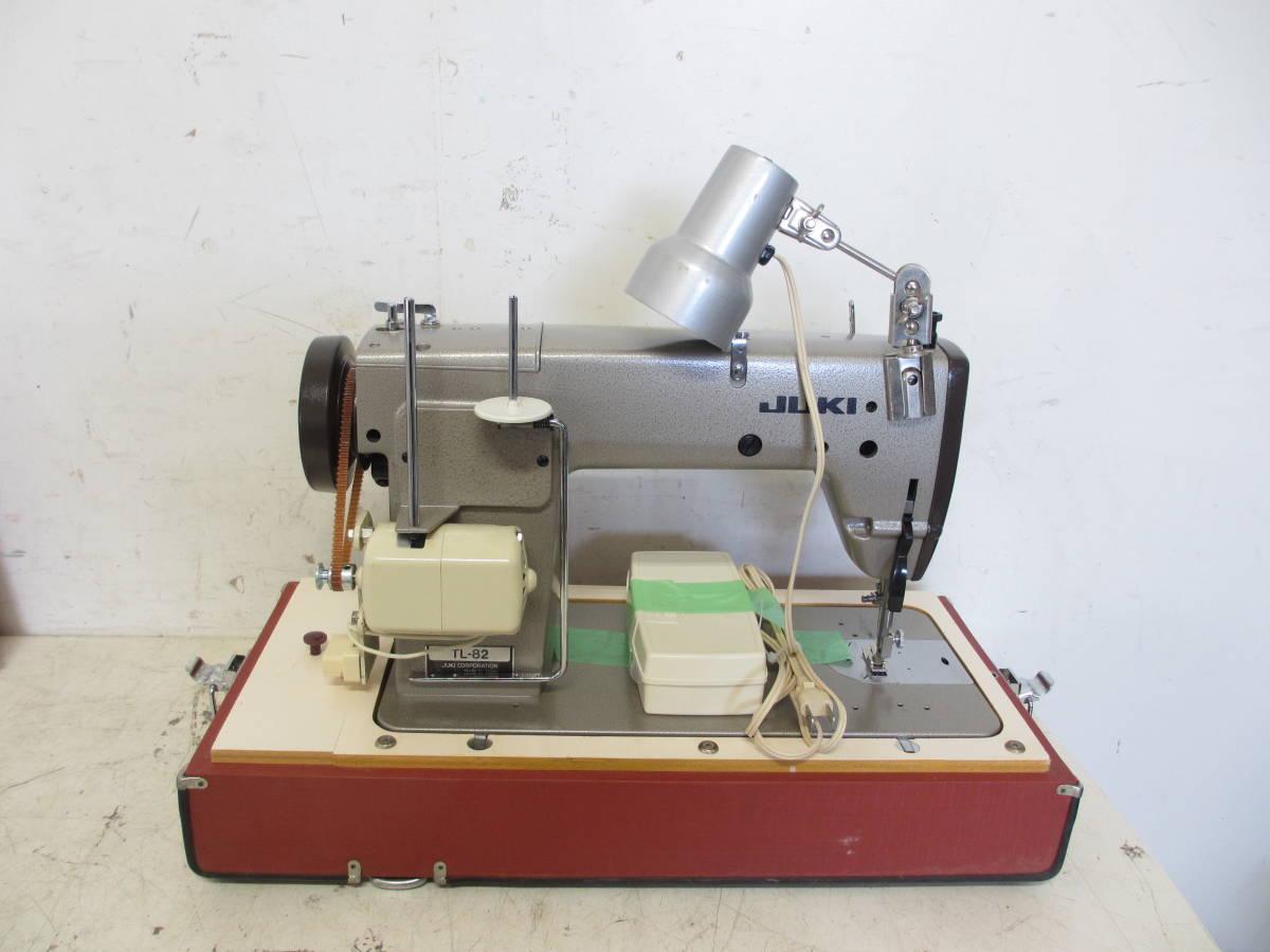 ※65 JUKI ジューキ 職業用 ミシン /アンティークミシン TL-82 直線縫い レザークラフト厚手デニム 現状品_画像4