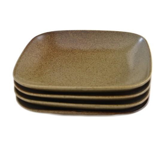 4枚セット【リンドスタイメスト】ACORN エイコーン どんぐり色 四角中皿 スクウェアーサラダプレート 19.5cm  L-ACO-SQSAPL-20-4S_画像1