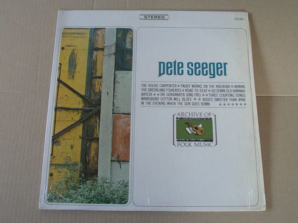 P5253 即決 LPレコード ピート・シーガー PETE SEEGER『ARCHIVE OF FOLK MUSIC』 輸入盤 US盤_画像1