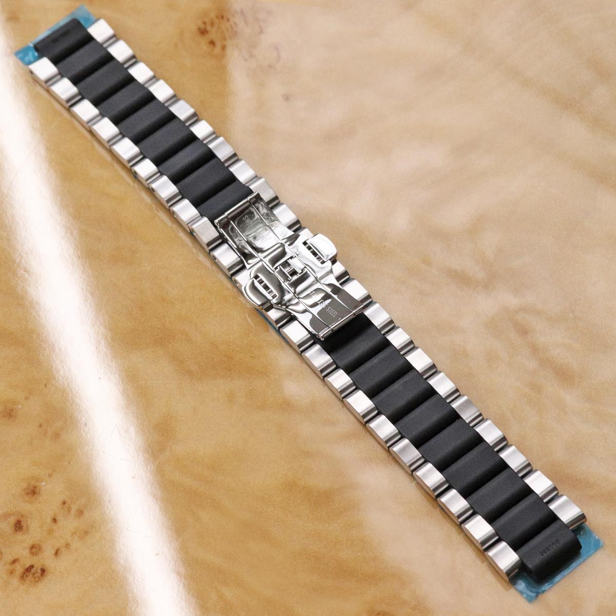 本物 新品仕上品 ルイヴィトン 絶盤 メンズ タンブール GM ステンレス ラバー コンビブレスレット 男性用腕時計 SSブレス ウォッチベルト_画像2
