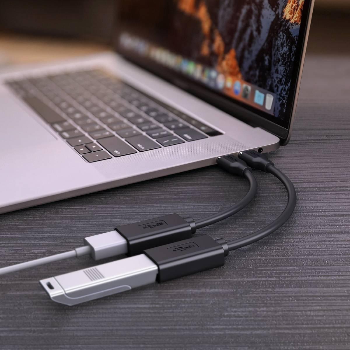 ★未使用★ 2個 セット USB C 変換コネクタ Type C to USB 3.0 OTGケーブル MacBook Galaxy Note etc★ 268720-229_画像3