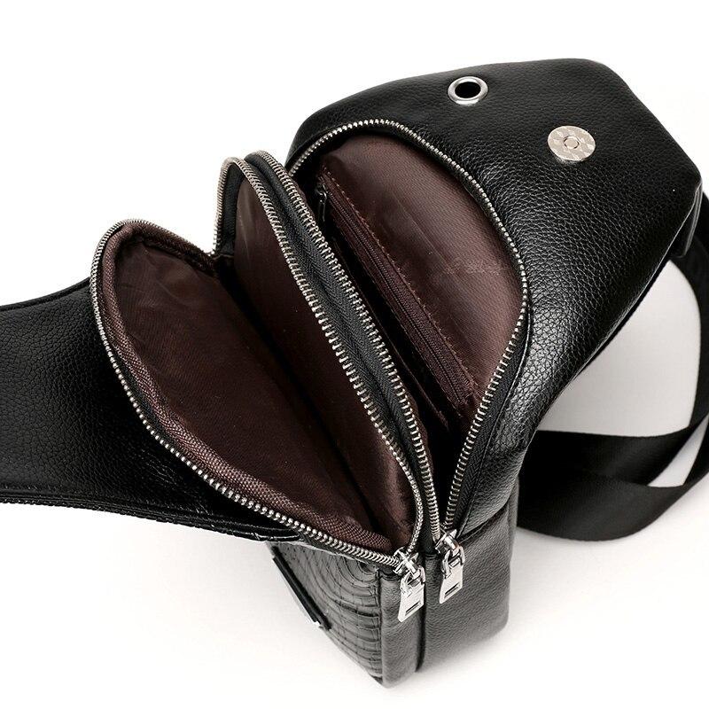 ワニ柄 本革 クロコダイル メンズバッグ ボディバッグ 紳士 ワンショルダーバッグ 斜め掛け 鞄_画像6