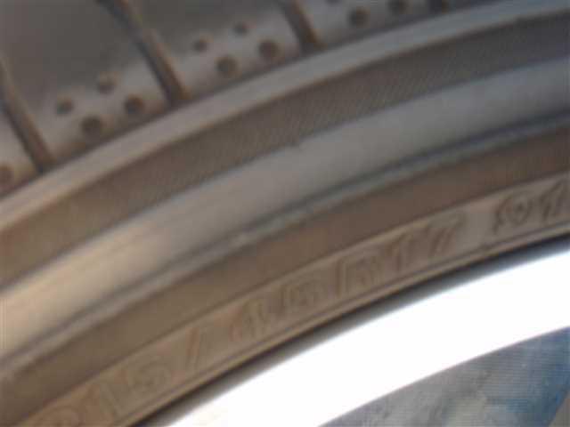 レガシィについていた 社外 アルミホイール RAYS グラムライツ 17インチ PCD100 5穴 7.5JJ +48 タイヤ ヨコハマ 215/45R17 4本SET 311147JJ_画像4