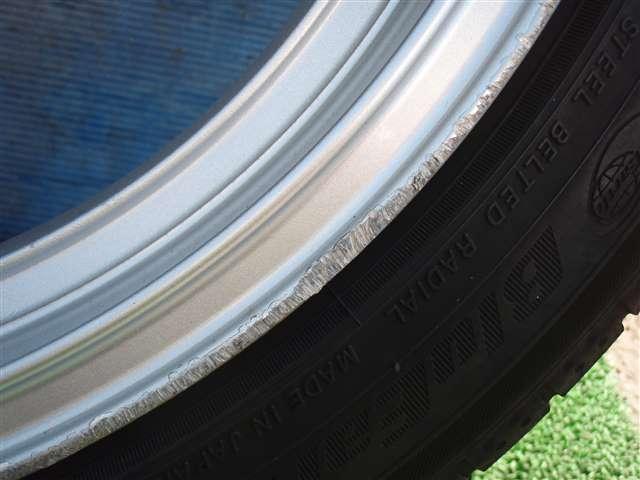 レガシィについていた 社外 アルミホイール RAYS グラムライツ 17インチ PCD100 5穴 7.5JJ +48 タイヤ ヨコハマ 215/45R17 4本SET 311147JJ_画像3