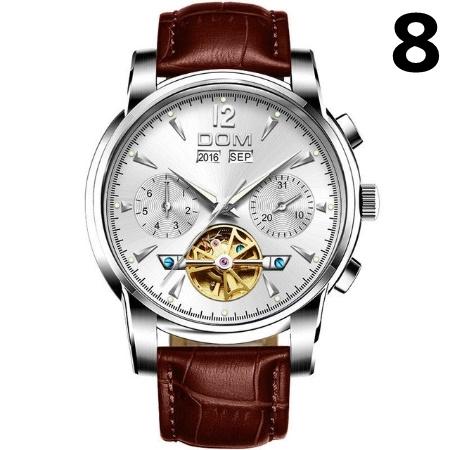 腕時計 メカニカル メンズ ウォッチ 自動巻き 男性 防水 レザーストラップ mt2260_画像9