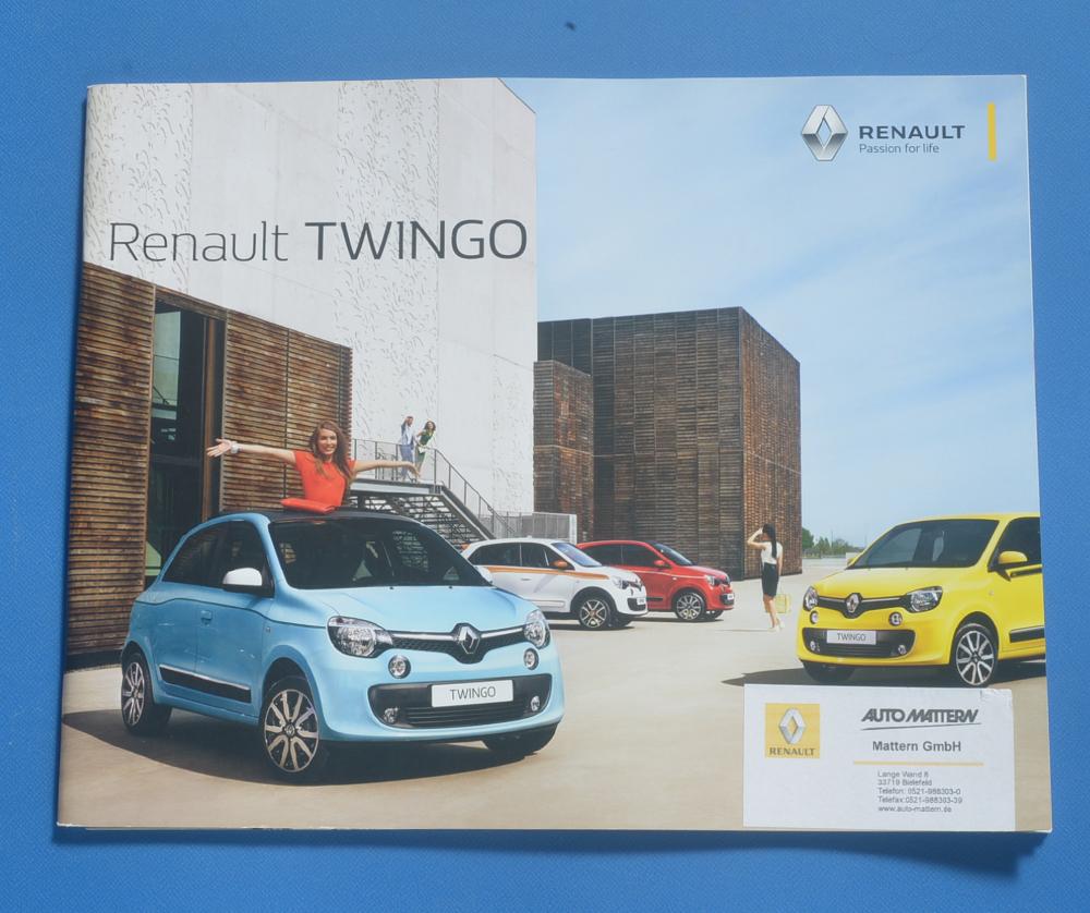 ルノー トゥインゴ RENAULT TWINGO 2017年5月 ドイツ語カタログ 送料無料_画像1