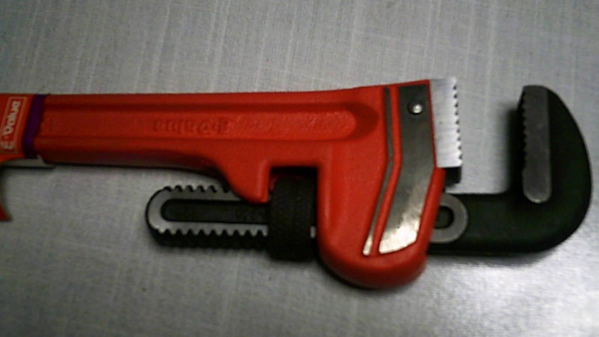 【即決】未使用保管品 E-Value パイプレンチ 300mm EPW-300 工具 大工工具_画像4