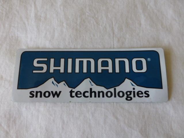 SHIMANO シマノ shimano ステッカー SHIMANO シマノ shimano snow technologies スノー テクノロジー 雪山