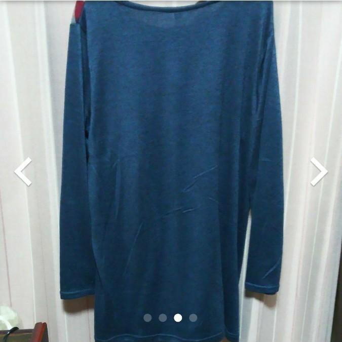 レディース 長袖 カットソー  チュニックシャツ  LL 大きいサイズ