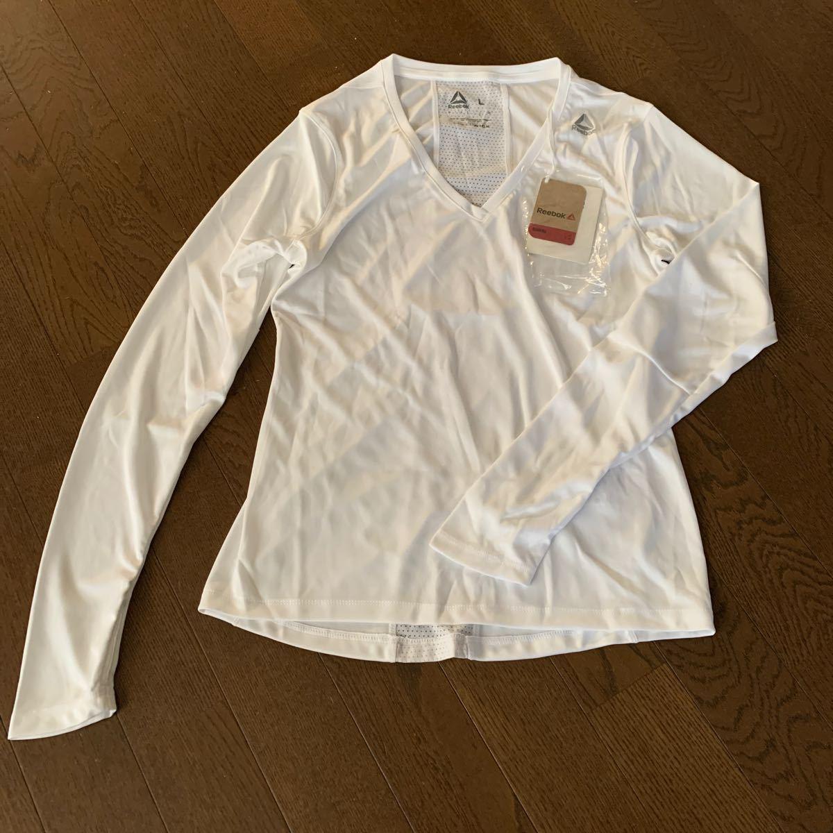 リーボック公式 Tシャツ Reebok ランニング ロングTシャツレディースL