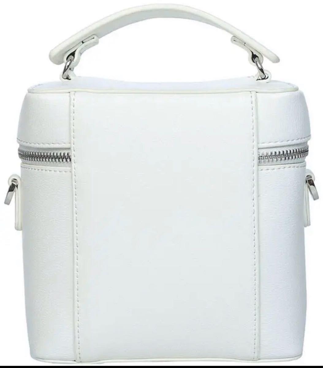 レディース ミニハンドバッグ ショルダーバッグ 化粧バッグ ホワイト