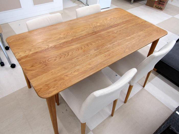 札幌発 ACTUS アクタス ダイニングセット 食卓テーブル/イス4脚 オーク ウレタン塗装_画像2