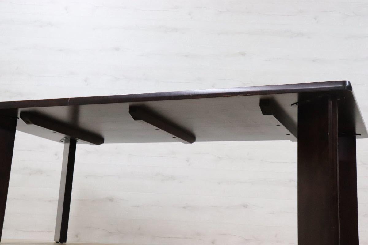 GMDK94 ○ 北海道民芸家具 低めのダイニングテーブル 作業台 高級 樺材 アンティーク 家具 ロータイプ テーブル 無垢材 机 デスク_画像2
