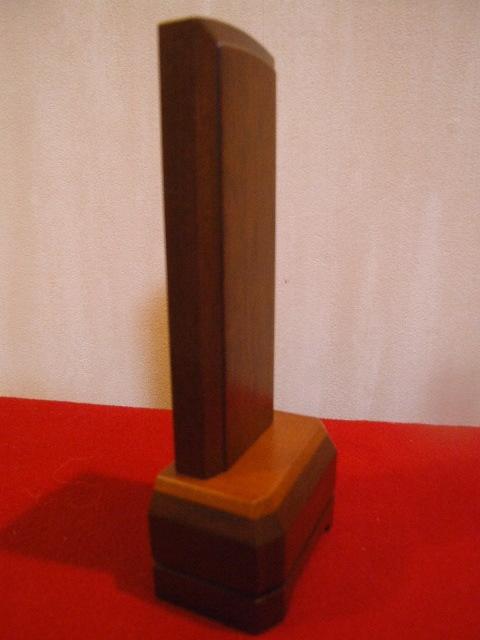 家具調 板位牌 ブラウン 4.5寸【唐木位牌・モダン/家具調位牌】仏壇仏具