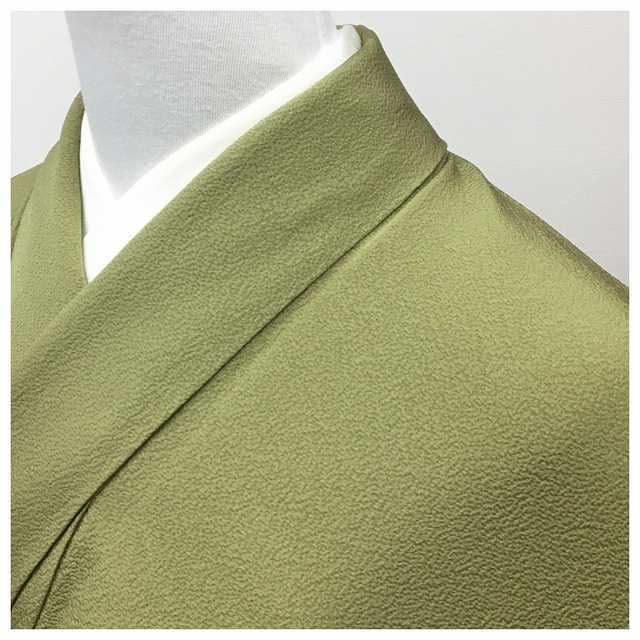 Beauty products color plain luxury kimono one Kamon bright green exquisite gem silk lined