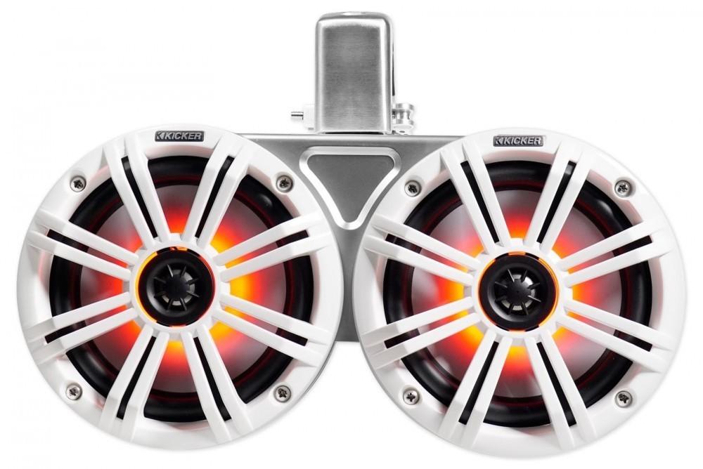 「■USA Audio■キッカー Kicker 最新型LED付マリーンタワーシステム KMTDC65W (45KMTDC65W) 白色 16.5cm Max.390W●保証付●税込」の画像3