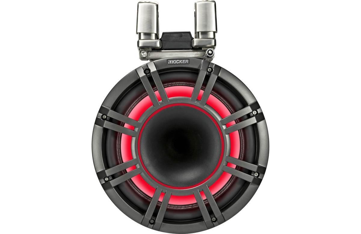 ■USA Audio■キッカー Kicker 最新型LED付マリーンタワーシステム KMTC114 (44KMTC114) Charcoal(黒色) 28cm Max.600W●保証付●税込_画像4