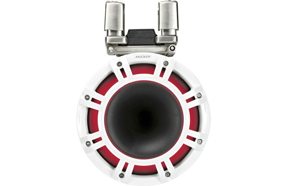 「■USA Audio■キッカー Kicker 最新型LED付マリーンタワーシステム KMTC94W (44KMTC94W) 白色 23cm Max.600W ●保証付●税込」の画像3