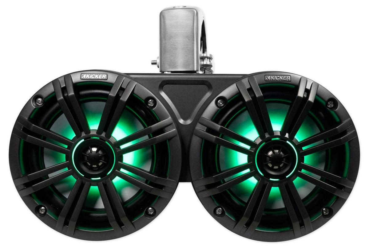 「■USA Audio■キッカー Kicker 最新型LED付マリーンタワーシステム KMTDC65 (45KMTDC65) 16.5cm Max.390W●保証付●税込」の画像2