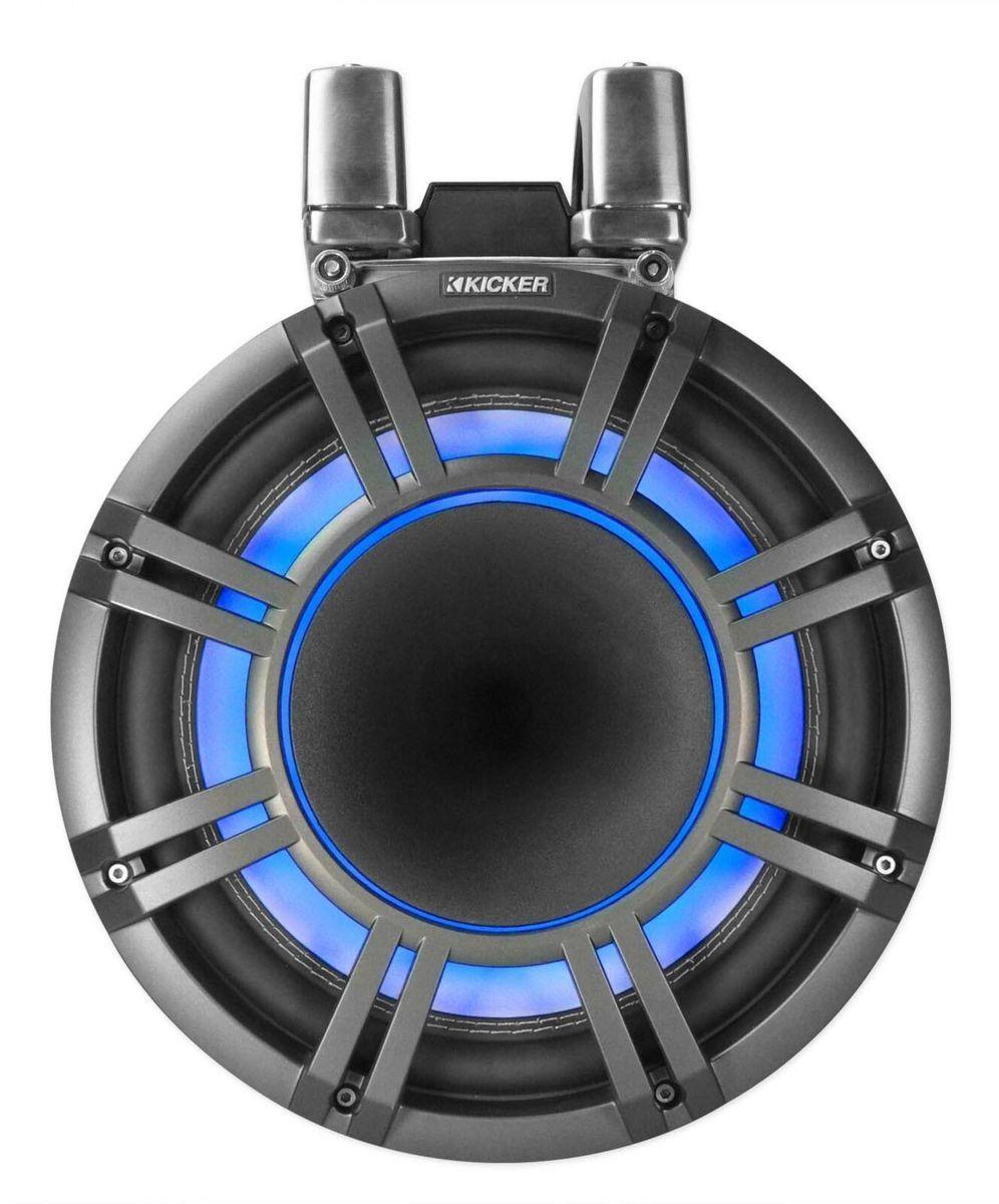 「■USA Audio■キッカー Kicker 最新型LED付マリーンタワーシステム KMTC94 (44KMTC94) Charcoal (黒色) 23cm Max.600W●保証付●税込」の画像3