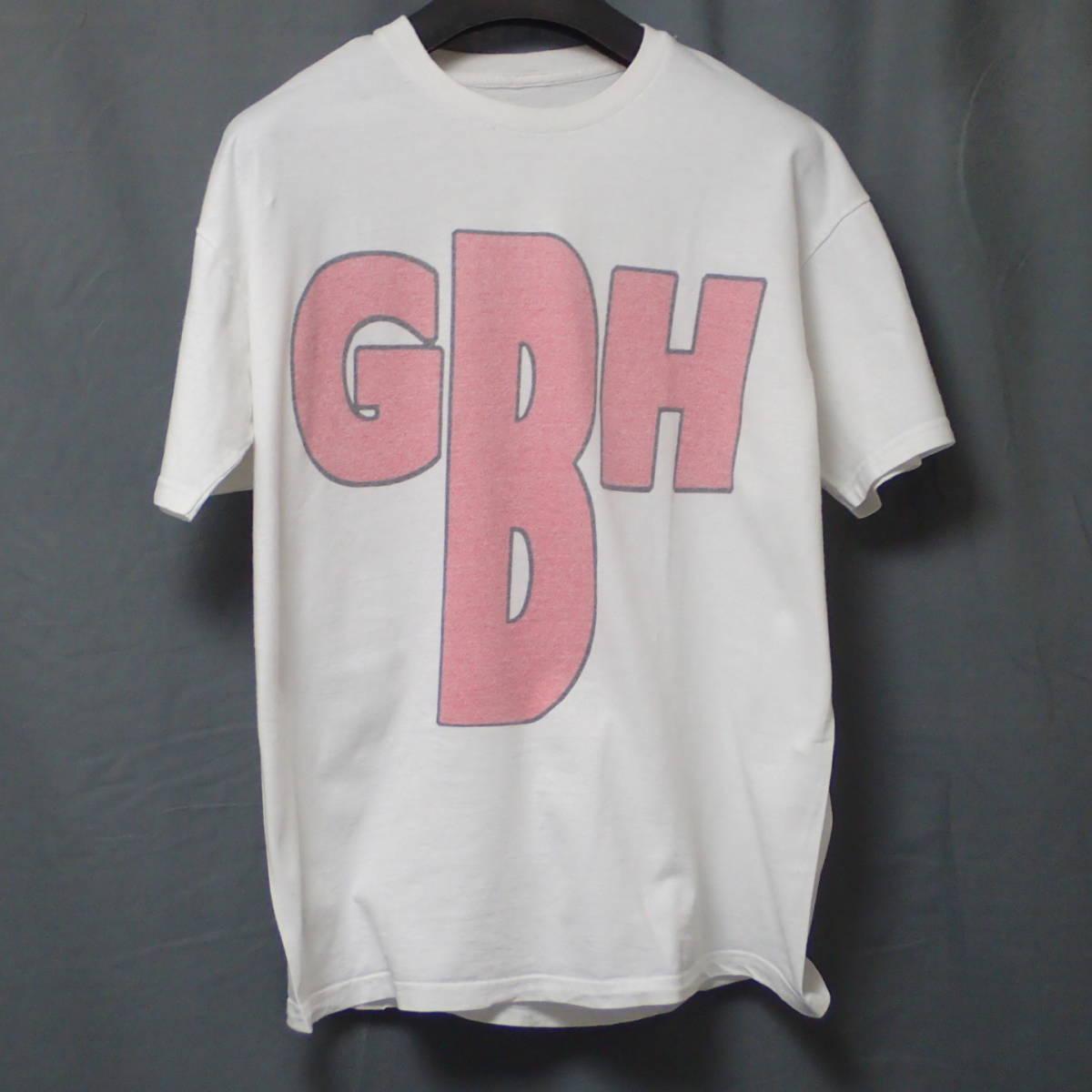 ■ 90s GBH Vintage T-shirt ■ ジービーエイチ ヴィンテージ Tシャツ 白 コットン 当時物 本物 バンドT ロックT G.B.H パンク_画像3
