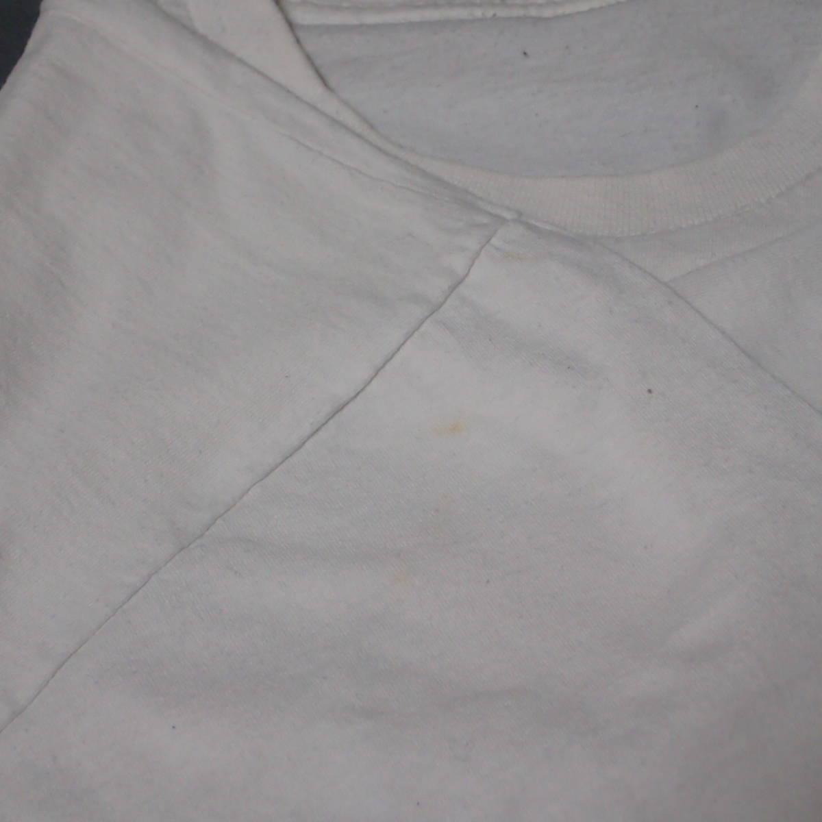 ■ 90s GBH Vintage T-shirt ■ ジービーエイチ ヴィンテージ Tシャツ 白 コットン 当時物 本物 バンドT ロックT G.B.H パンク_画像7