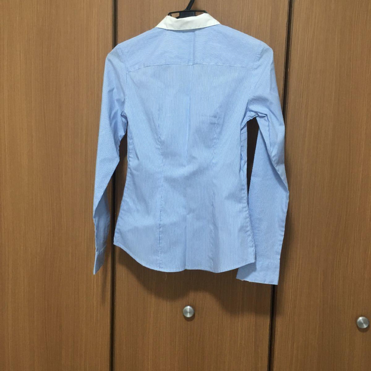 長袖シャツ ストライプ