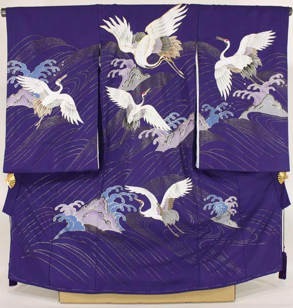 [ столица. Mai .] мужчина . три . кимоно ( производство надеты )dabc04 журавль фиолетовый