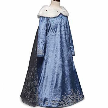 ブルー2 120 ドレス 子供 コスチューム 子供服 ロングドレス ワンピース forディズニープリンセス _画像2