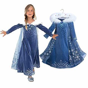 ブルー2 120 ドレス 子供 コスチューム 子供服 ロングドレス ワンピース forディズニープリンセス _画像1