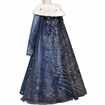 ブルー2 120 ドレス 子供 コスチューム 子供服 ロングドレス ワンピース forディズニープリンセス _画像3