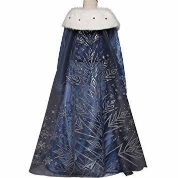 ブルー2 120 ドレス 子供 コスチューム 子供服 ロングドレス ワンピース forディズニープリンセス _画像4