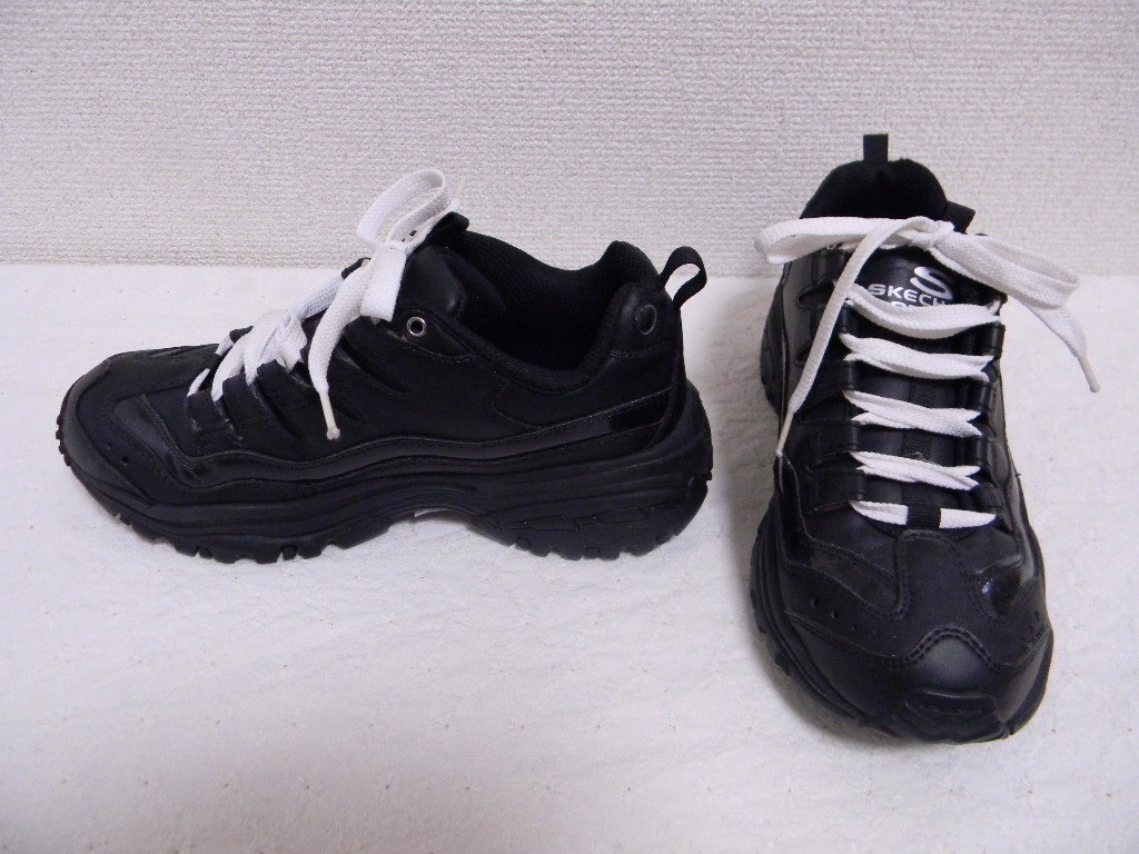 *+【 スケッチャーズ 】◆黒のスニーカー(22.5cm位)表示=23cm