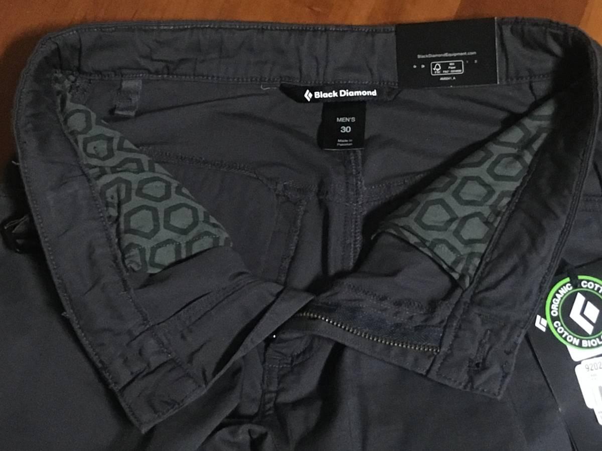 BD03 新品 Black Diamond Credo Shorts 30 Slate ブラックダイヤモンド クレード ショーツ ショートパンツ ストレッチ スレート グレー_画像5