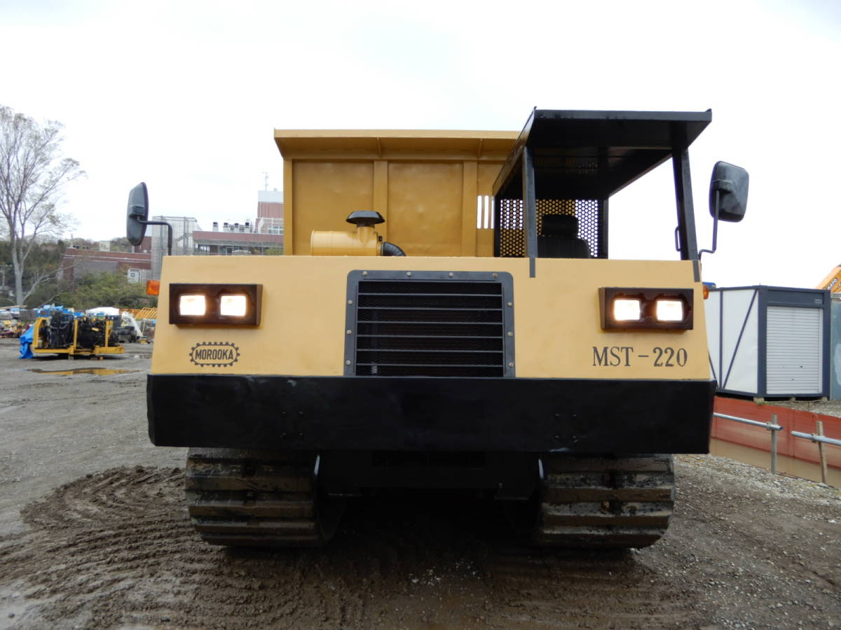 「「全塗装・即納」諸岡 モロオカ MST-2200 CAT エンジン 254馬力 最大積載10トン クローラーダンプ 不整地運搬車 林業機械」の画像1