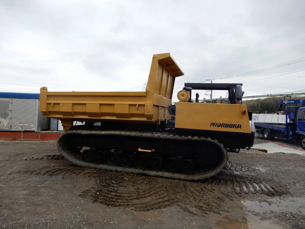 「「全塗装・即納」諸岡 モロオカ MST-2200 CAT エンジン 254馬力 最大積載10トン クローラーダンプ 不整地運搬車 林業機械」の画像2
