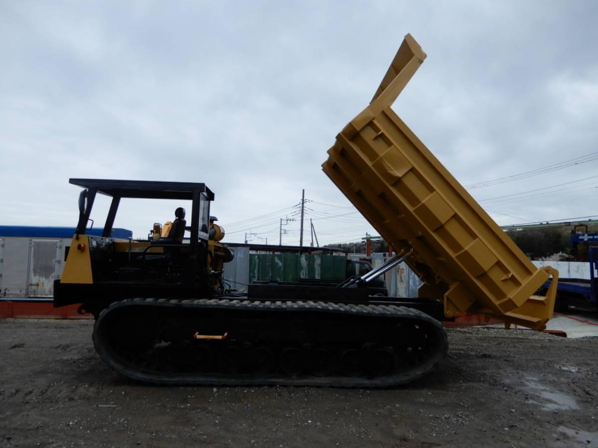 「「全塗装・即納」諸岡 モロオカ MST-2200 CAT エンジン 254馬力 最大積載10トン クローラーダンプ 不整地運搬車 林業機械」の画像3