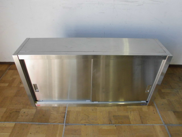 中古厨房 業務用 マルゼン 食器棚 食器庫 飲食店 店舗 W1200×D300×H600mm ステンレス_画像2