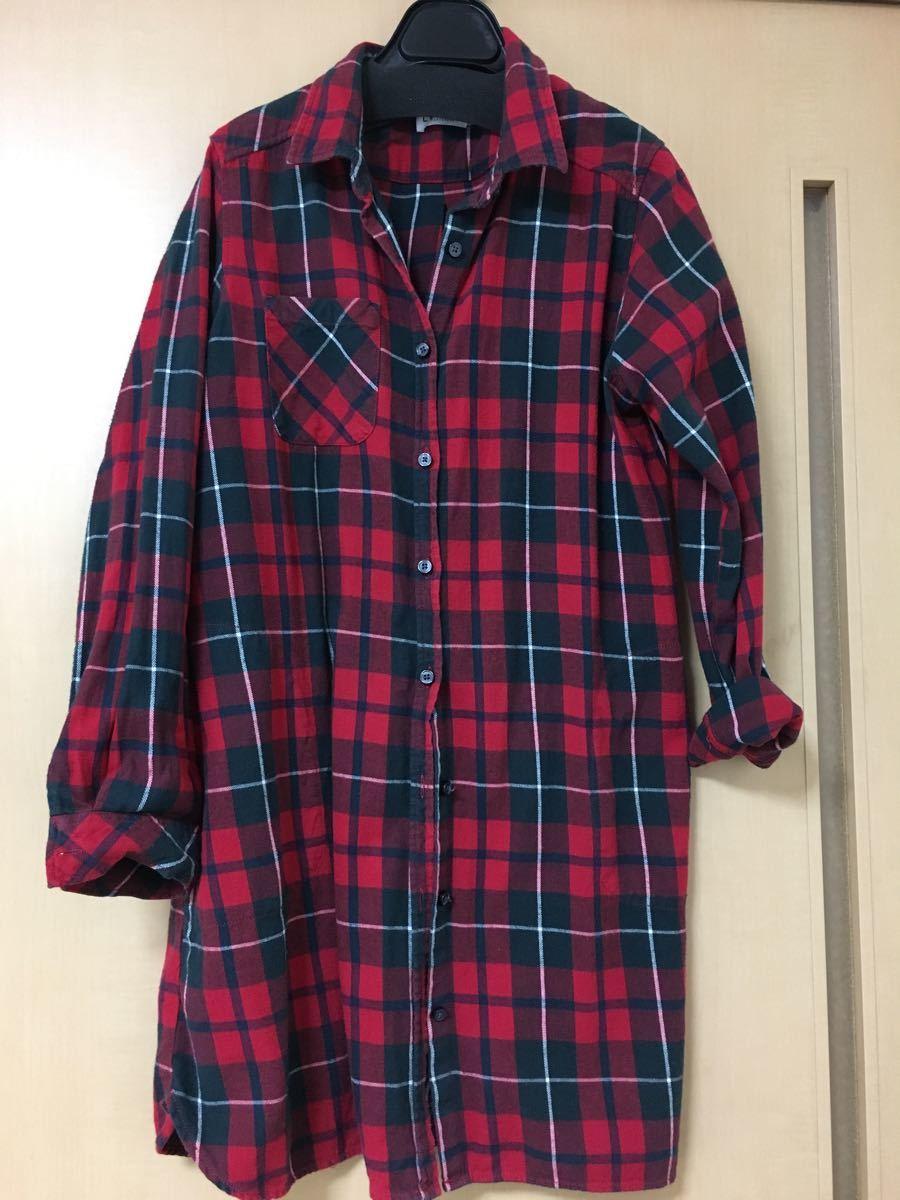 チェックシャツ シャツワンピース LEPSIM