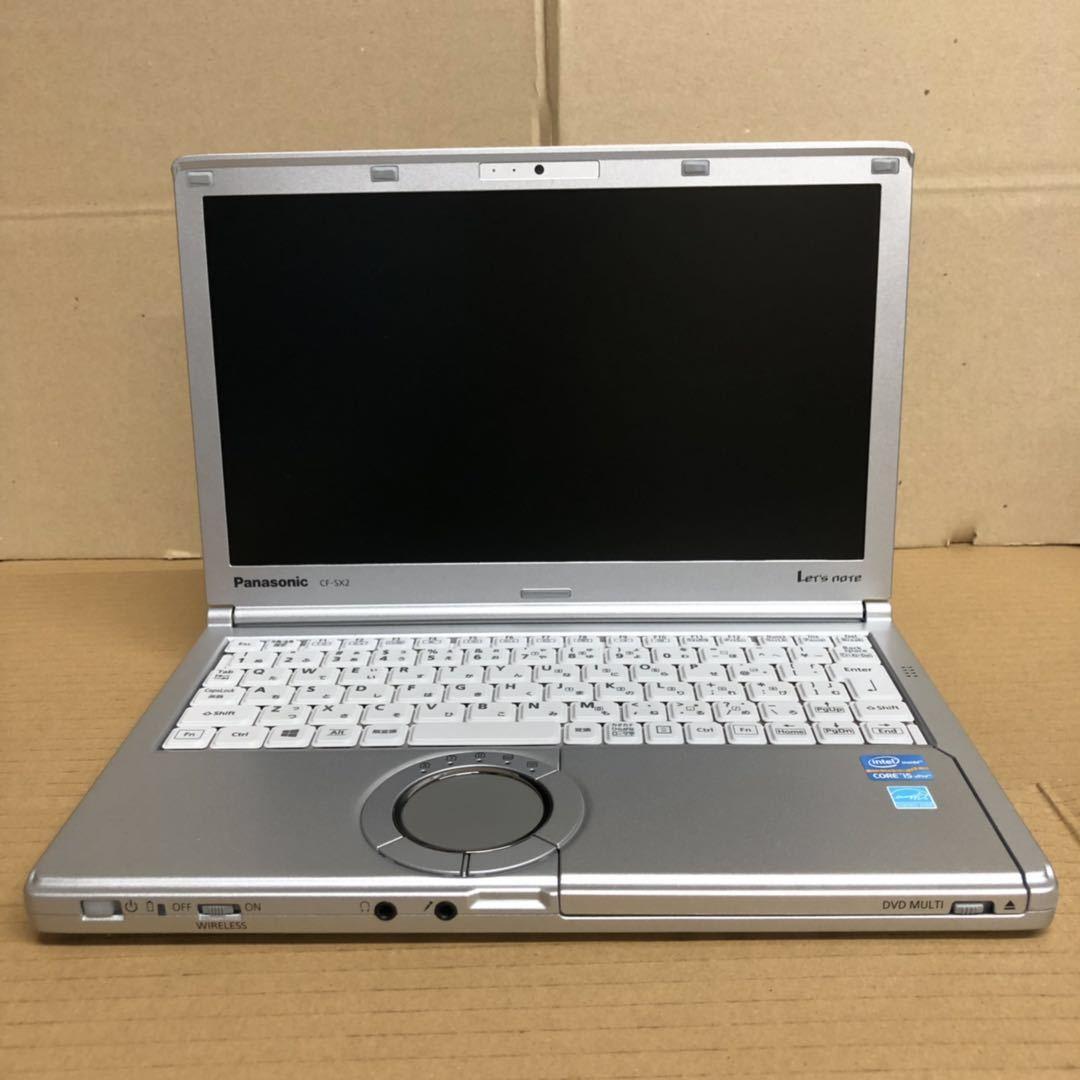格安/ノートパソコン/Win10/Panasonic Let'snote CF-SX2/第三世代 i5 2.70GHz/Office2016 搭載/メモリ4GB/新品SSD240GB/12.1インチ/無線LAN_画像1