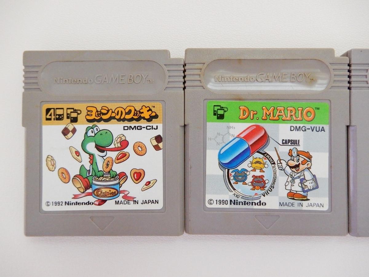 -405《ゲームボーイ》ソフト ヨッシーのクッキー Dr.Mario スーパーマリオランド 6つの金貨 ワリオランド3