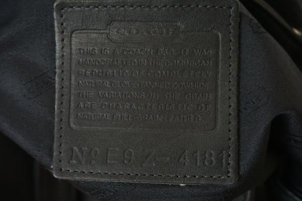 美品 COACH オールドコーチ オールレザートートバッグ ブラック 4181 メンズレディース ショルダー ハンドバッグ ビンテージ j19_画像5