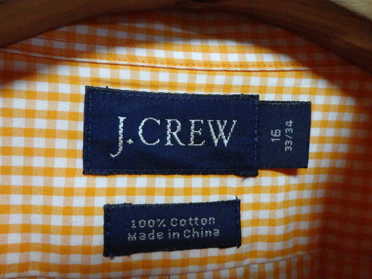 J.Crew (J.クルー) 長袖 チェック柄 シャツ XLサイズ(US 16 33/34) アメカジ 古着 春 人気 ジェイクルー 大きいサイズ ビックサイズ USA_画像6