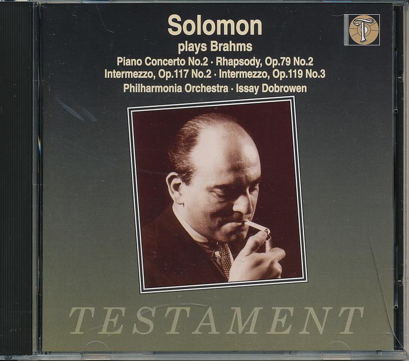ソロモン Solomon/ フィルハーモニア管弦楽団/ ドブローウェン指揮 ブラームス:ピアノ協奏曲第2番 Op.83、ラプソディ Op.79-2、ほか_画像1