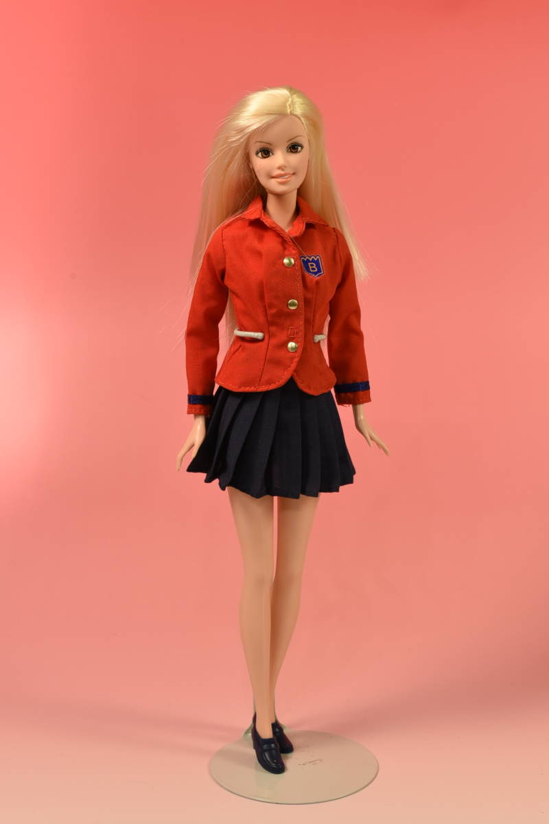 Barbie人形 「詳細不明 Barbie」(F) ・元箱無し・スタンド付き _画像1