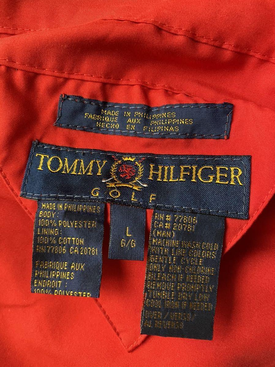 送料無料 90s tommy hilfiger トミー ヒルフィガー リバーシブル スイングトップ ブルゾン ジャケット チェック 総柄 sailing GOLF XXL red_画像6