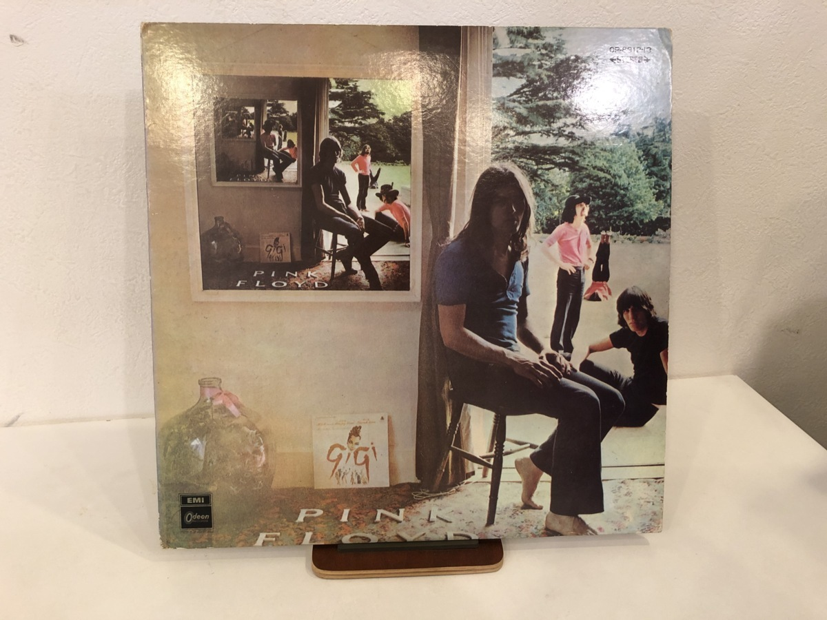 【中古品】ピンク・フロイド ( PINK FLOYD )/ UMMAGUMMA OP-8912-13 LP 2枚組 見開きジャケット内側に書込みあり レーベルひげ多め #100599_画像1