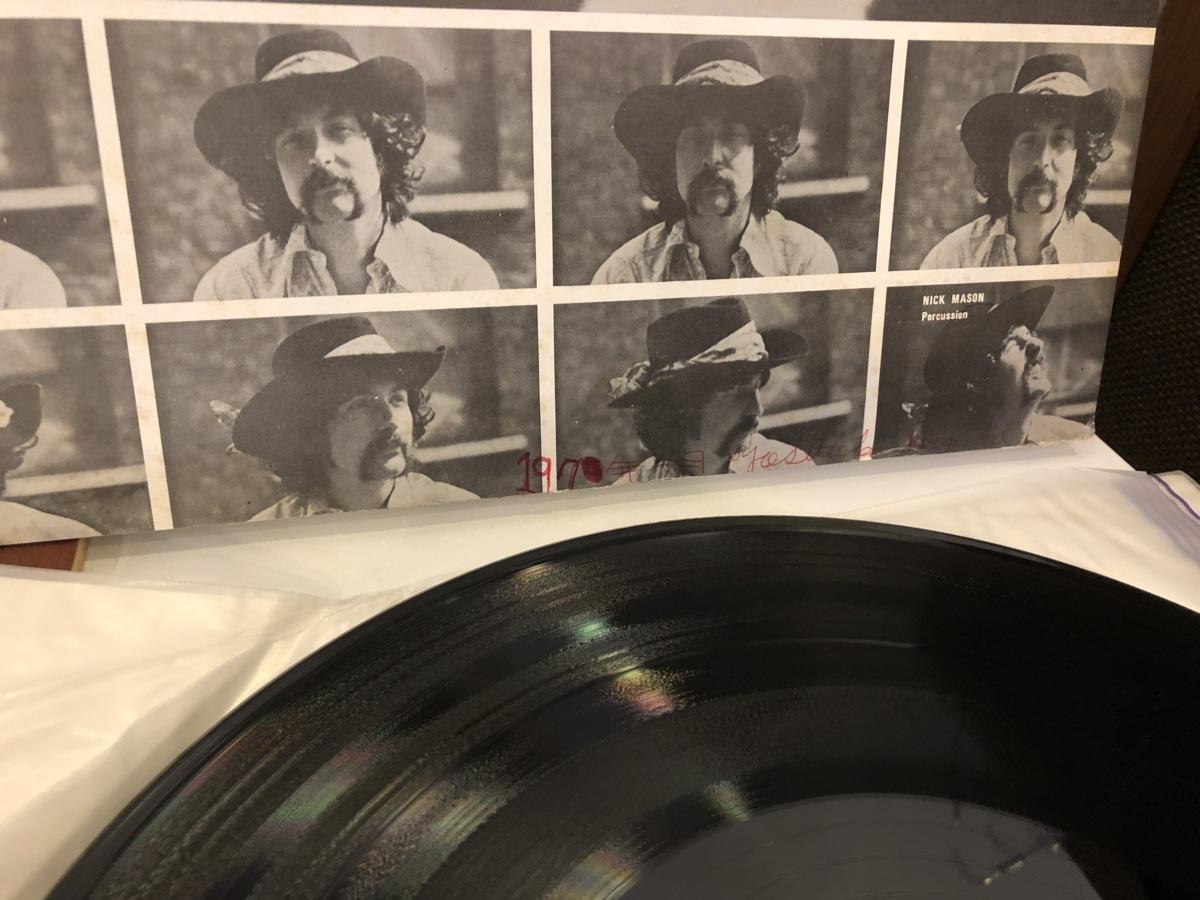 【中古品】ピンク・フロイド ( PINK FLOYD )/ UMMAGUMMA OP-8912-13 LP 2枚組 見開きジャケット内側に書込みあり レーベルひげ多め #100599_画像4