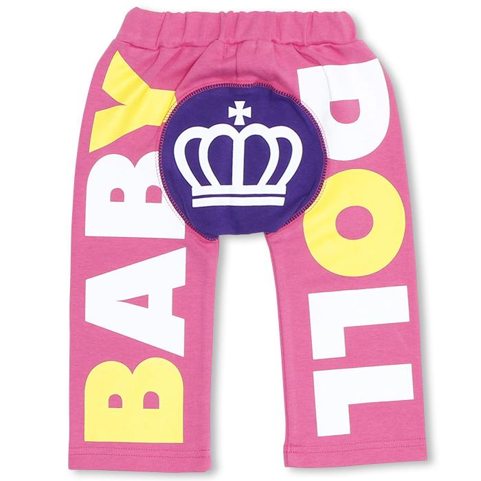 送料無料!新品☆BABY DOLLロゴ王冠モンキーパンツ80サイズ/ベビードール長ズボン、子供服、ベビーボトム_画像1